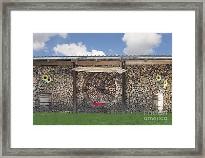 Firewood Art Framed Print by Jaak Nilson