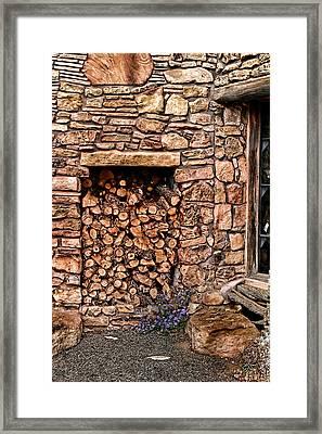 Firewood Framed Print by Tom Prendergast