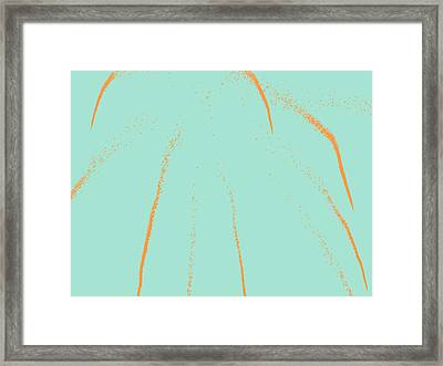 Firework Abstract Lll Framed Print