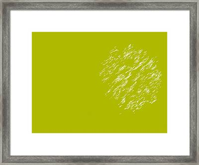 Firework Abstract Lv Framed Print by Michelle Calkins