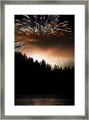 Firework Display At The Celebration Of Light In Vancouver Canada 2011 Framed Print by Pierre Leclerc Photography