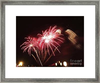 Firework Display Framed Print