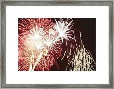 Firework Display Framed Print