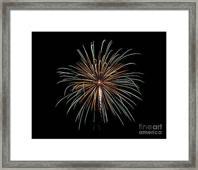 Framed Print featuring the photograph Fireworks 10 by Mark Dodd