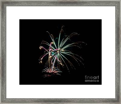 Framed Print featuring the photograph Fireworks 11 by Mark Dodd