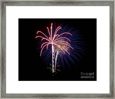 Framed Print featuring the photograph Fireworks 12 by Mark Dodd