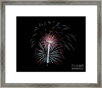 Framed Print featuring the photograph Fireworks 13 by Mark Dodd