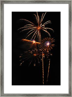 Fireworks 1580 Framed Print by Michael Peychich