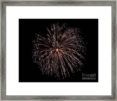 Framed Print featuring the photograph Fireworks 3 by Mark Dodd