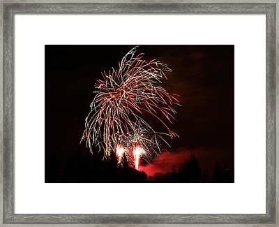 Fireworks 4 Framed Print by Donna Barker
