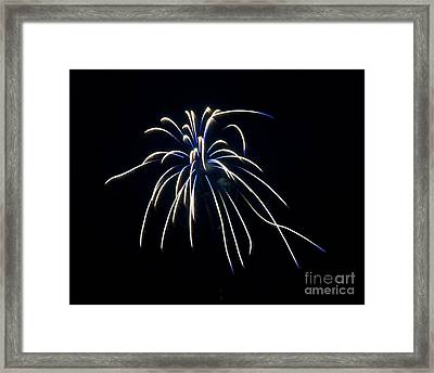 Framed Print featuring the photograph Fireworks 4 by Mark Dodd