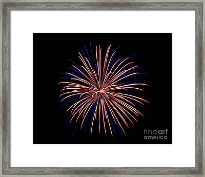 Framed Print featuring the photograph Fireworks 7 by Mark Dodd