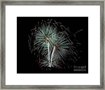 Framed Print featuring the photograph Fireworks 8 by Mark Dodd