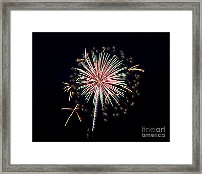 Framed Print featuring the photograph Fireworks 9 by Mark Dodd