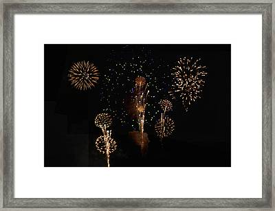 Fireworks Framed Print by Bill Cannon