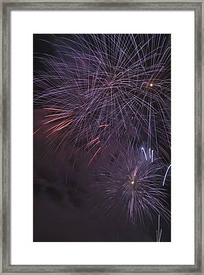 Fireworks, Crowsnest Pass, Alberta Framed Print by Michael Interisano