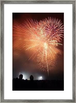 Fireworks Display Framed Print by Cordelia Molloy