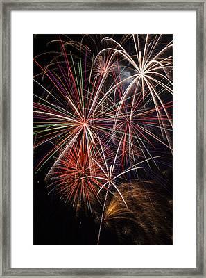 Fireworks Display Framed Print by Garry Gay