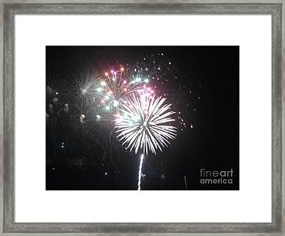 Fireworks Framed Print by Dyana Rzentkowski