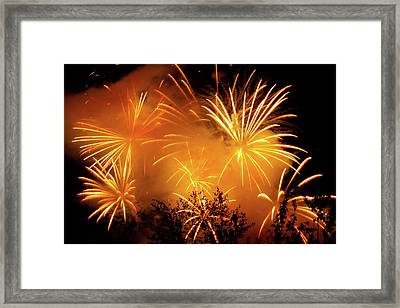 Fireworks Finale Framed Print by Stanley French