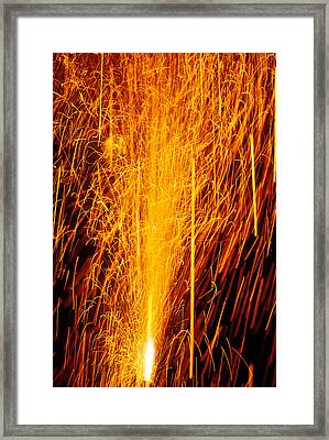 Fireworks Fountain Framed Print by Garry Gay