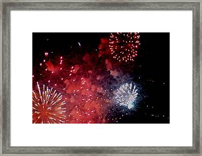 Framed Print featuring the photograph Fireworks II by Kelly Hazel