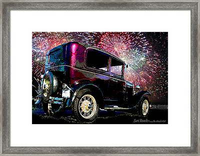 Fireworks In The Ford Framed Print
