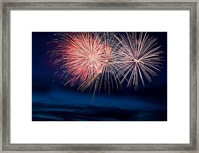 Fireworks Framed Print by Ivan SABO