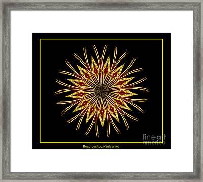 Fireworks Kaleidoscope 1 Framed Print