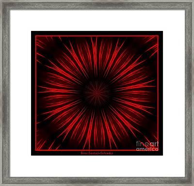 Fireworks Kaleidoscope 10 Framed Print