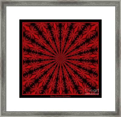 Fireworks Kaleidoscope 11 Framed Print