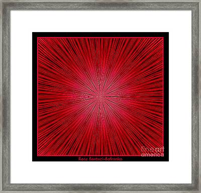 Fireworks Kaleidoscope 14 Framed Print