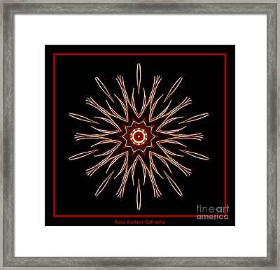 Fireworks Kaleidoscope 2 Framed Print
