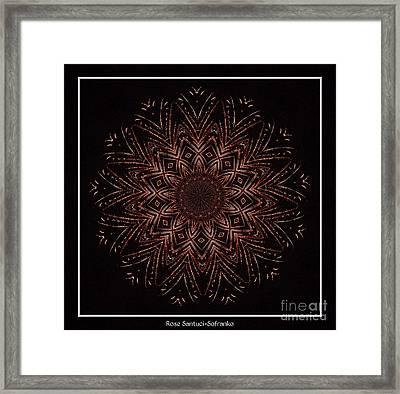 Fireworks Kaleidoscope 3 Framed Print