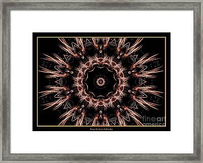 Fireworks Kaleidoscope 7 Framed Print