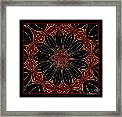 Fireworks Kaleidoscope 8 Framed Print