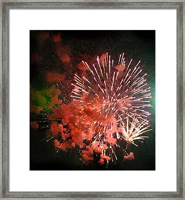 Framed Print featuring the photograph Fireworks by Kelly Hazel