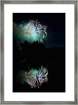Fireworks On Golden Ponds. Framed Print by James BO  Insogna