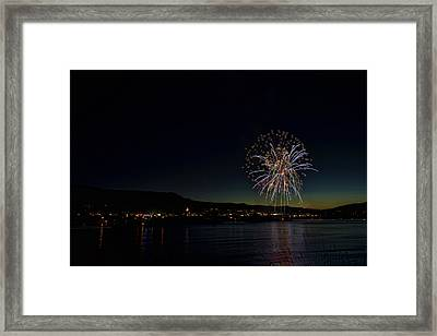Fireworks On The River Framed Print
