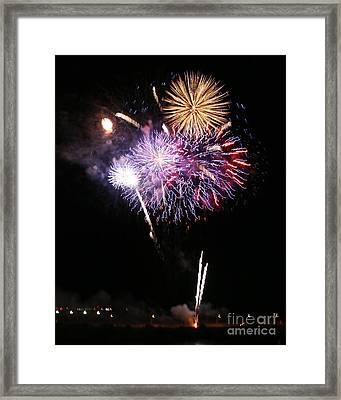 Fireworks Over The River Framed Print by Kenny Bosak