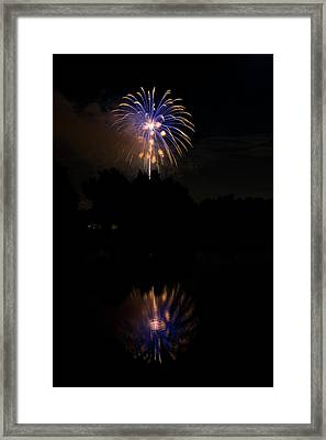Fireworks Reflection Framed Print by James BO  Insogna