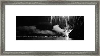 Fireworks Tahoe Ca Framed Print by Isak Hanold
