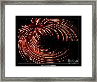 Fireworks Warp 1 Framed Print