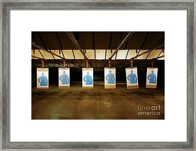Firing Range Framed Print by Skip Nall