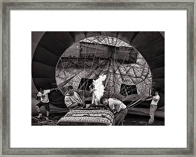 Firing The Burners Framed Print by Bob Orsillo