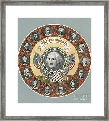 First 15 U.s. Presidents Framed Print