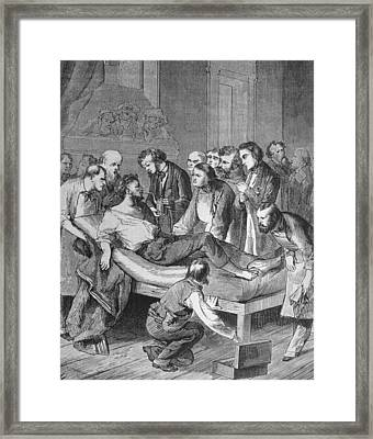 First Administration Of Ether Framed Print