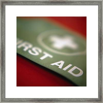 First Aid Armband Framed Print by Cristina Pedrazzini
