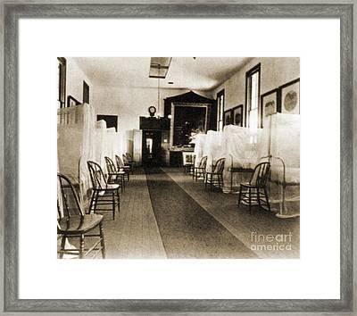First Aid Hospital Exhibit, 1876 Framed Print