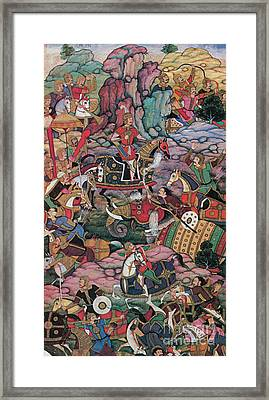 First Battle Of Panipat, 1526 Framed Print by Photo Researchers
